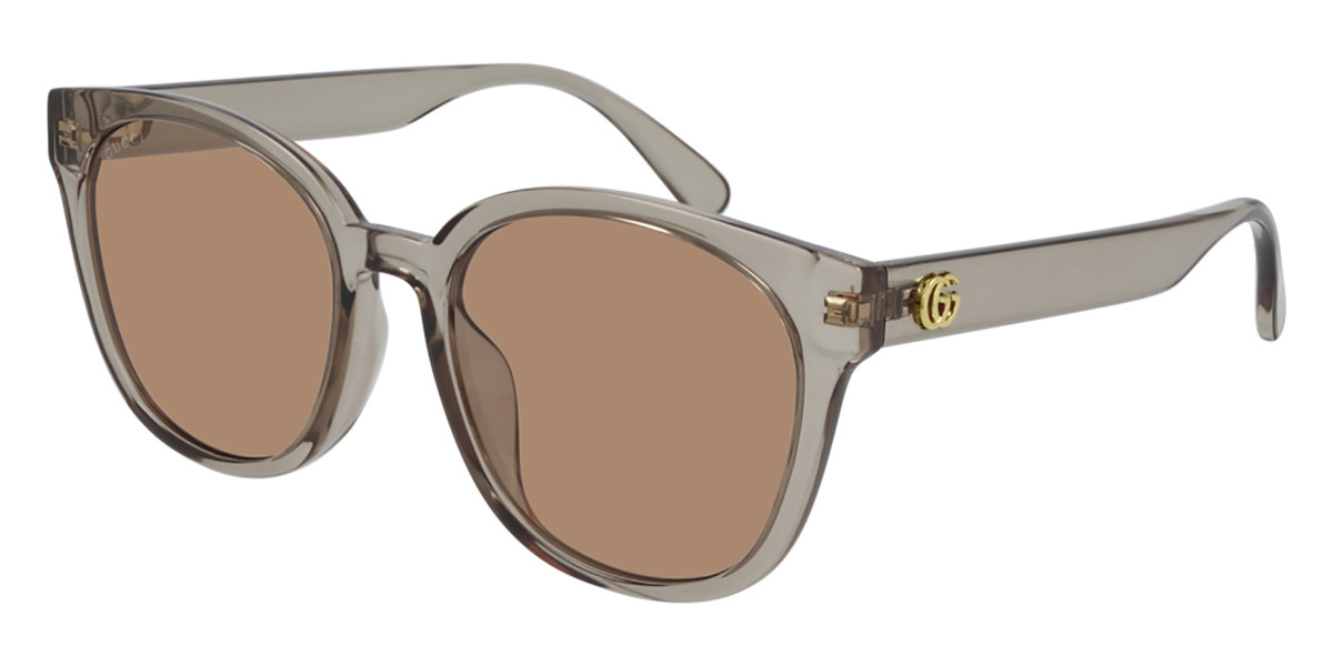 Gucci GG0855SK Asian Fit 004 Women's Sunglasses Grey Size 56 - Free RX Lenses