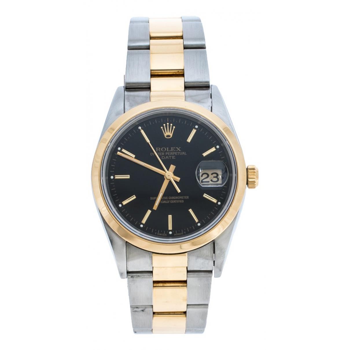 Rolex - Montre Oyster Perpetual 34mm pour homme en or et acier - argente