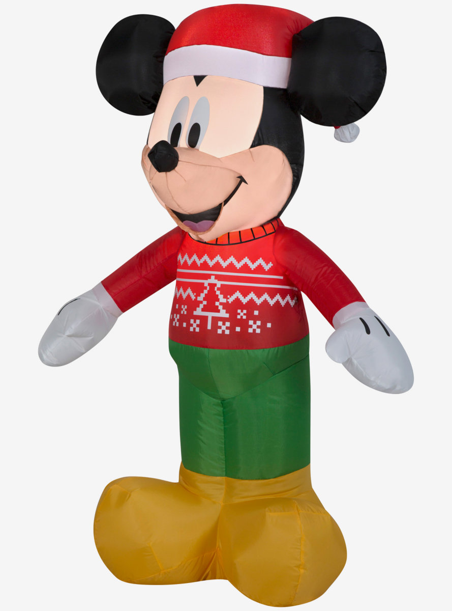 Disney Mickey Mouse Mickey In Ugly Sweater Small Airblown