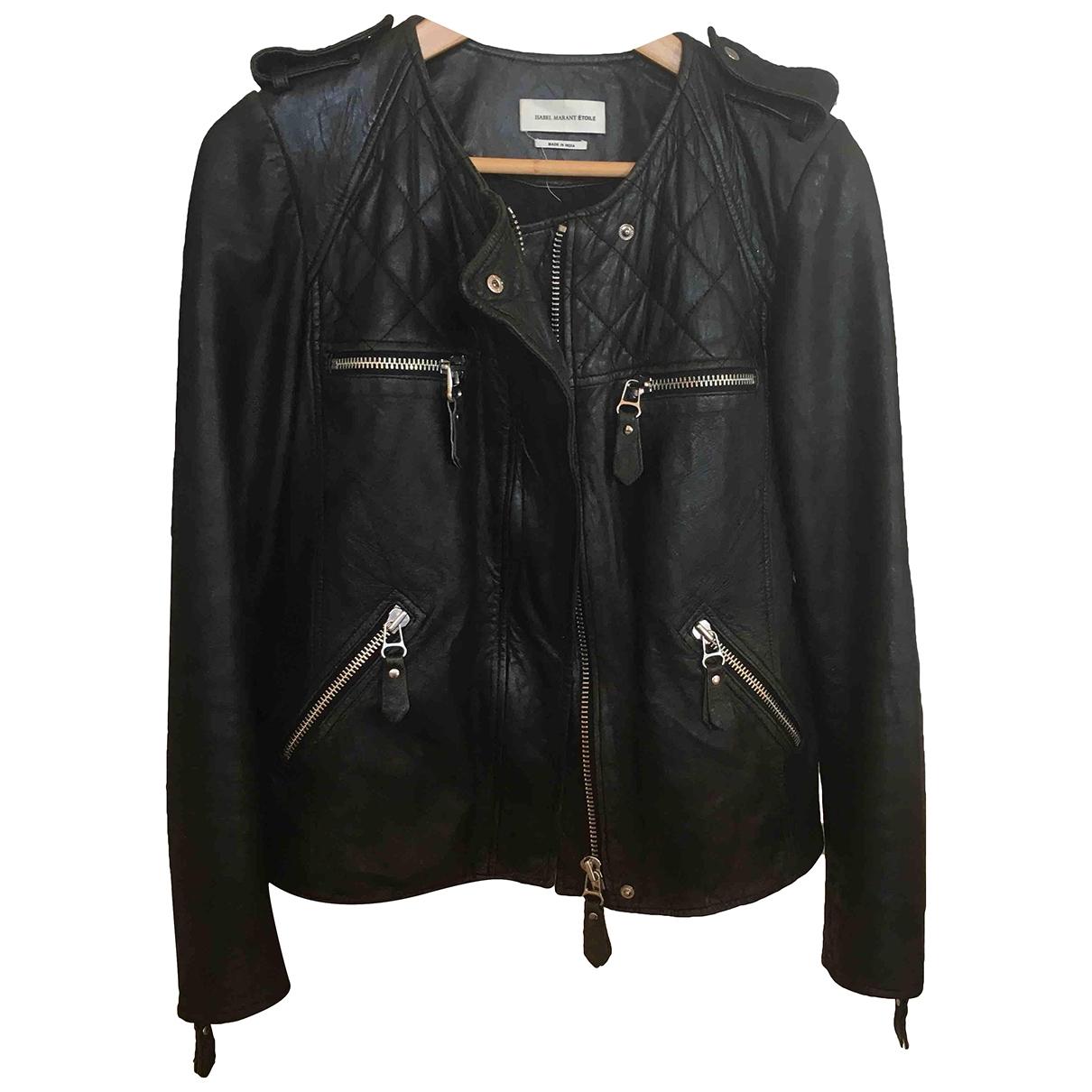 Isabel Marant Etoile \N Black Leather jacket for Women 38 FR