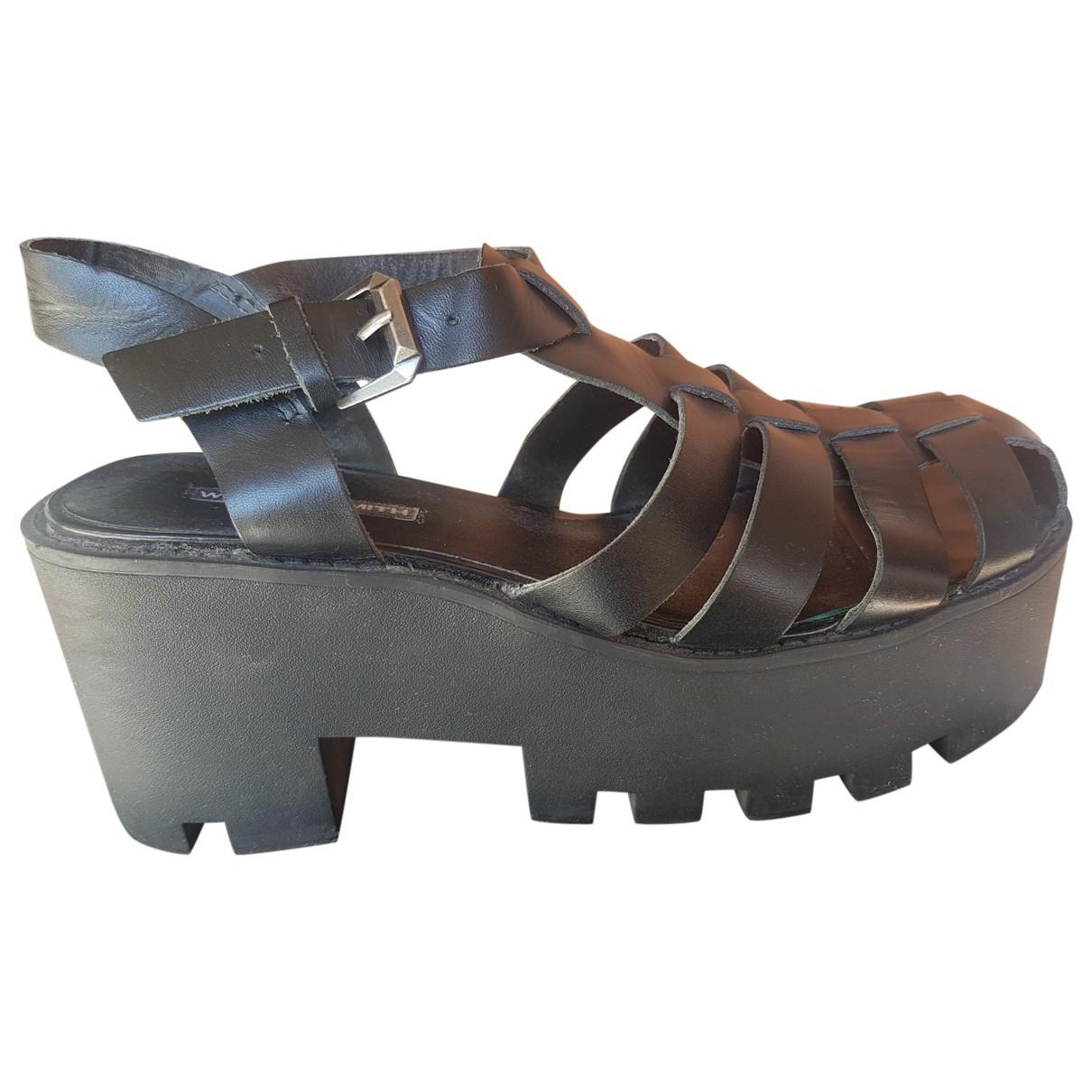 Windsor Smith - Sandales   pour femme en cuir - noir