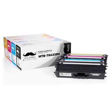 Brother TN433 cartouche de toner compatible combo haute capacité BK/C/M/Y - Moustache®