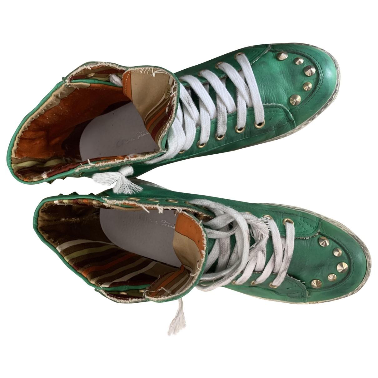 Chiara Ferragni - Baskets   pour femme en cuir - vert