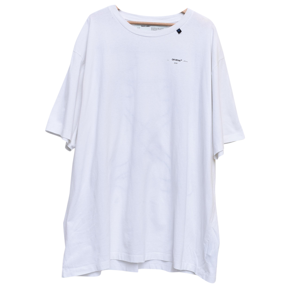 Off-white N White Cotton T-shirts for Men XL International