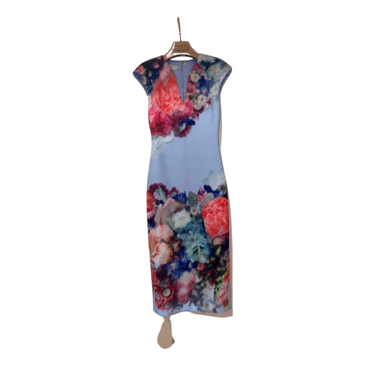 Ted Baker N Blue Silk dress for Women 1 0-5