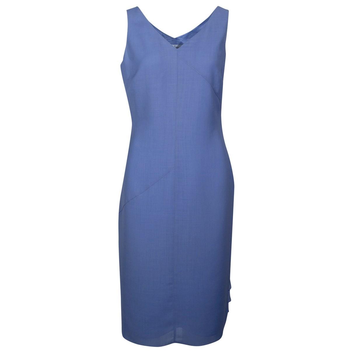 Valentino Garavani \N Kleid in  Blau Wolle