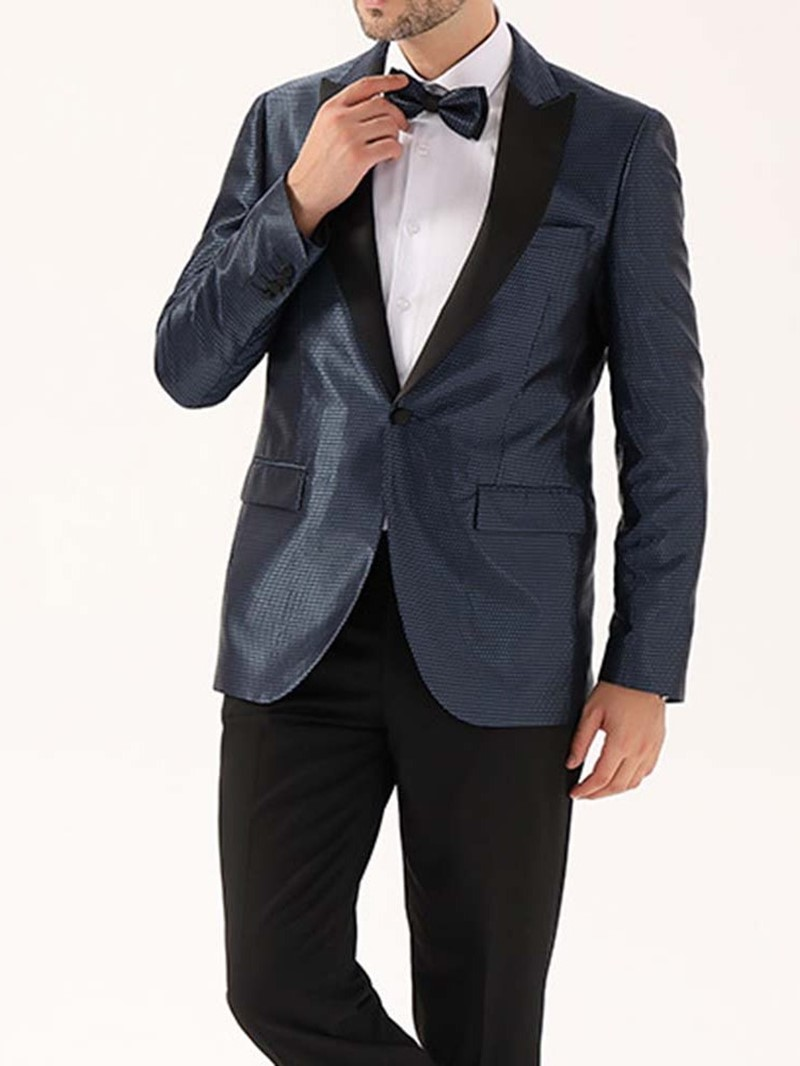Ericdress Slim One Button Notched Lapel Men's Leisure Blazers