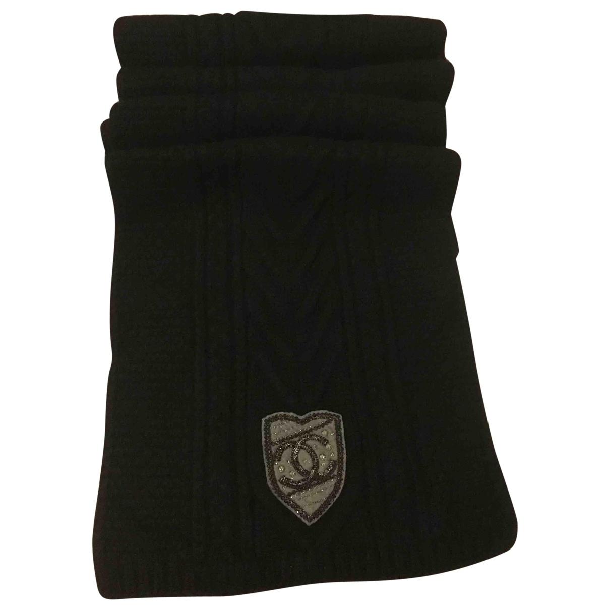 Chanel - Foulard   pour femme en cachemire - noir