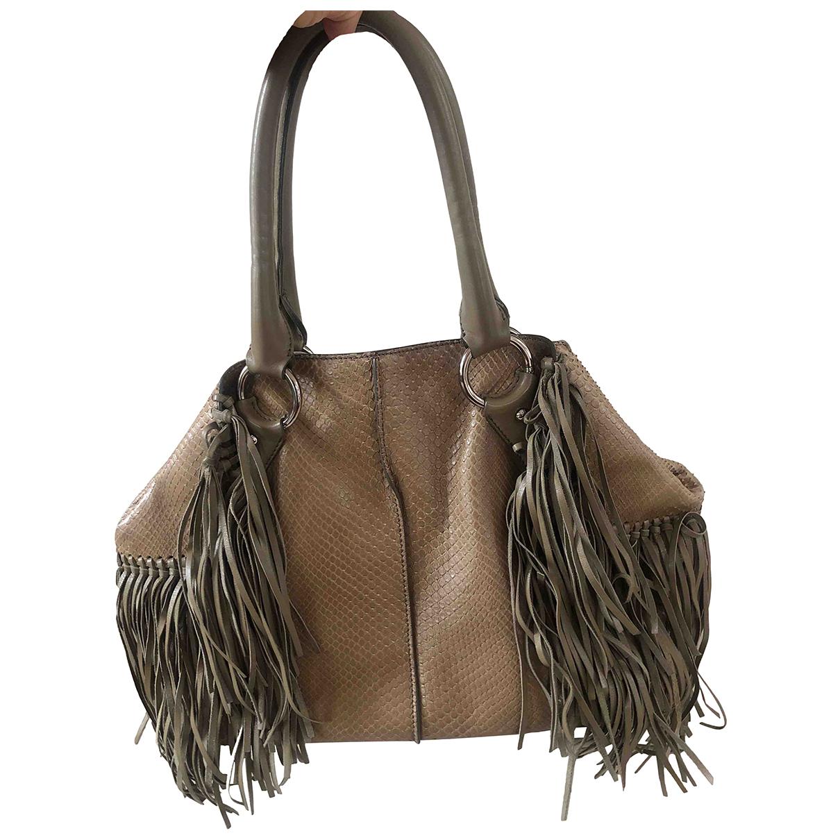 Tod's N Beige Python handbag for Women N