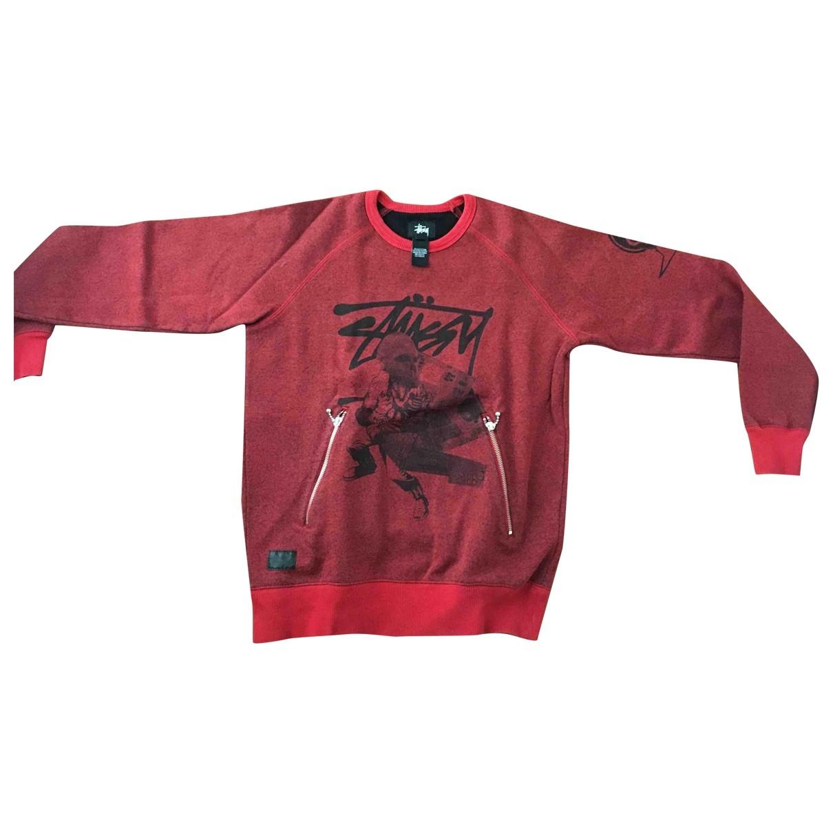 Stussy \N Pullover.Westen.Sweatshirts  in  Rot Baumwolle