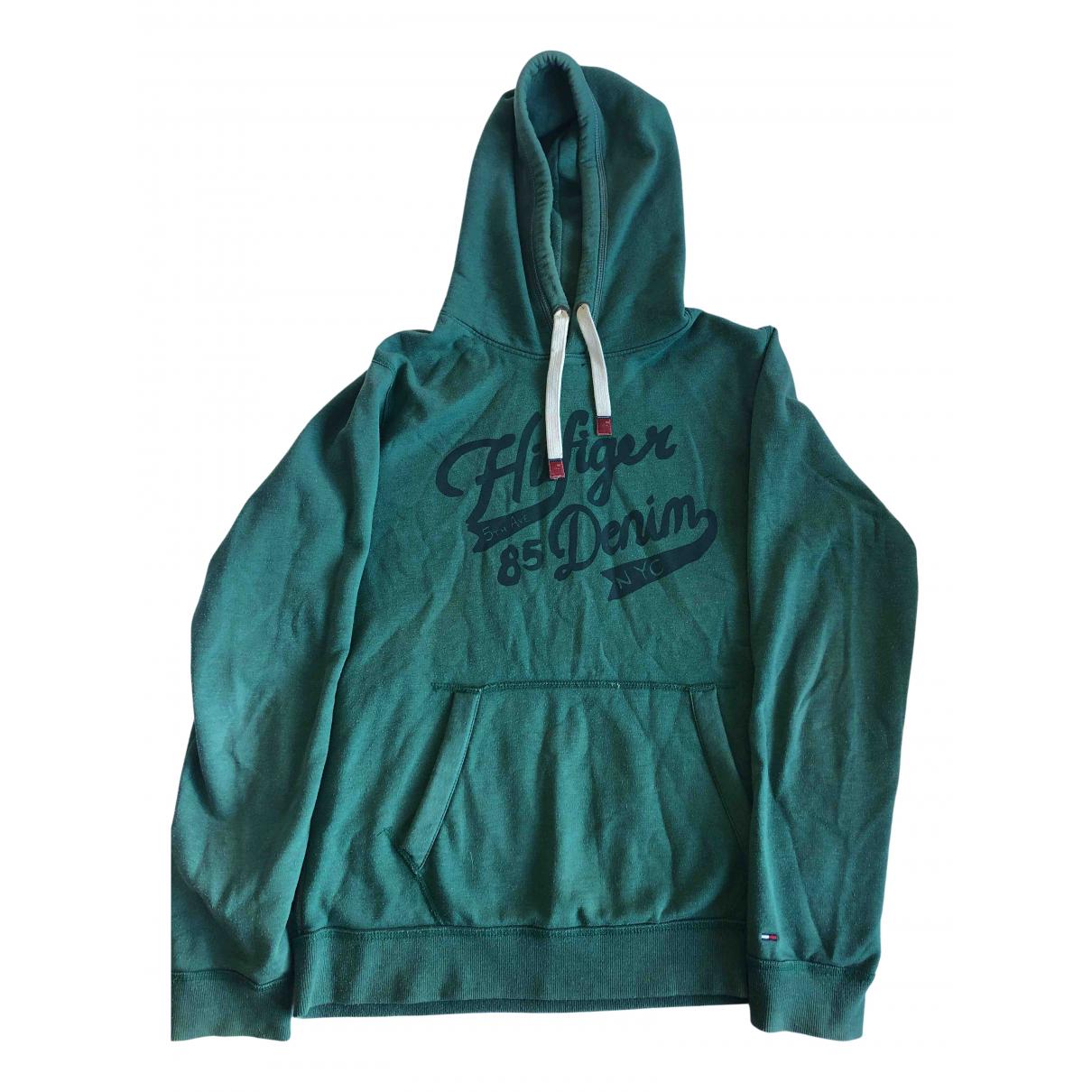 Tommy Hilfiger \N Pullover.Westen.Sweatshirts  in  Gruen Baumwolle