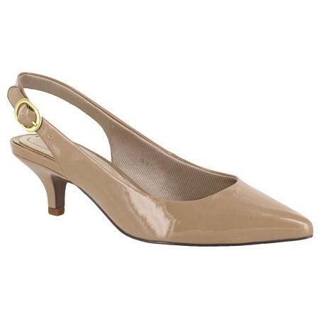 Easy Street Womens Faye Pumps Kitten Heel, 9 Medium, White