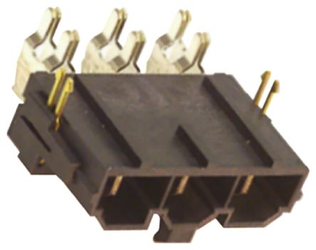 Molex , Mini-Fit Sr, 42820, 6 Way, 1 Row, Right Angle PCB Header