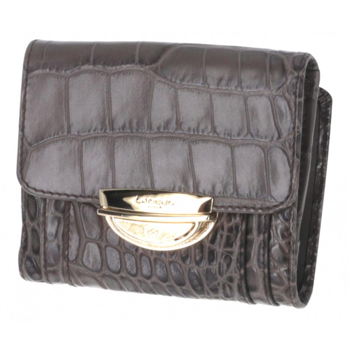Lancel - Portefeuille Adjani pour femme en cuir - gris