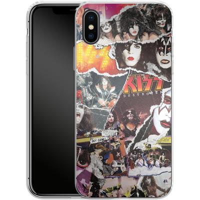 Apple iPhone X Silikon Handyhuelle - KISS Collage von KISS®