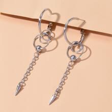 1pair Chain Hoop Earrings