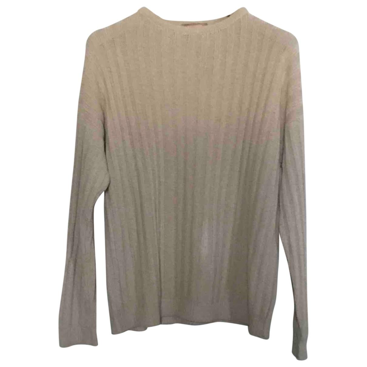 Non Signe / Unsigned \N Pullover.Westen.Sweatshirts  in  Ecru Seide