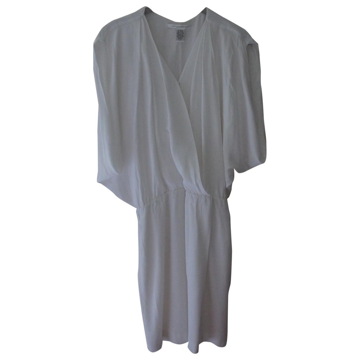 Diane Von Furstenberg \N Kleid in  Weiss Synthetik