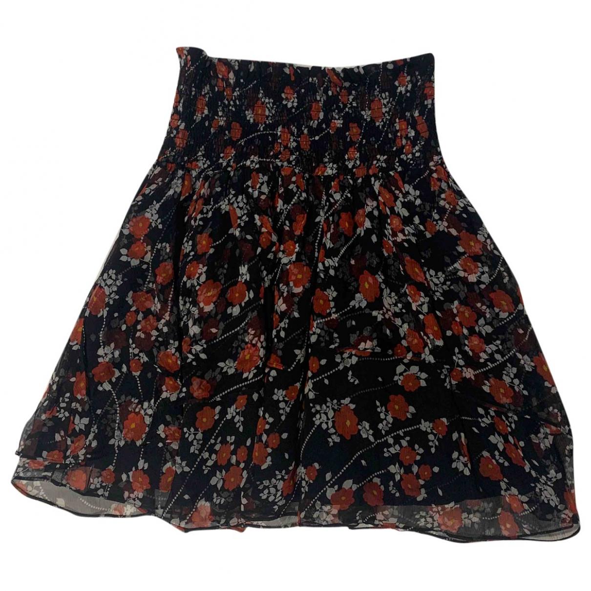 The Kooples - Jupe   pour femme en soie - noir