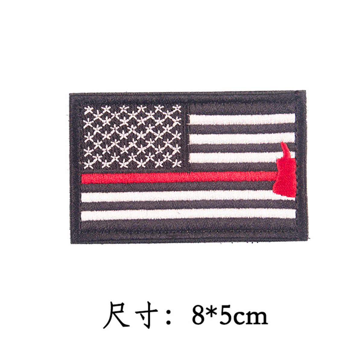 Embroidered American Flag Clothing Accessories Velcro Backpack Decorative Badge USA Armband Patch Sticker