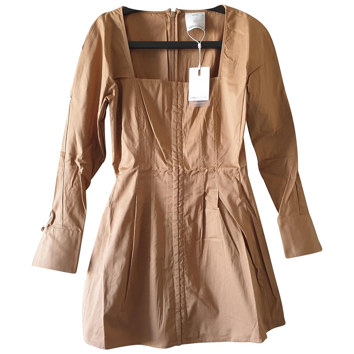 C/meo - Robe   pour femme en coton - camel