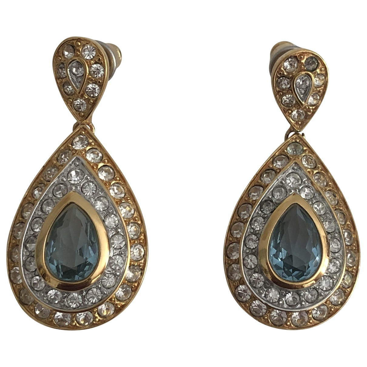- Boucles doreilles Art Deco pour femme en metal - dore