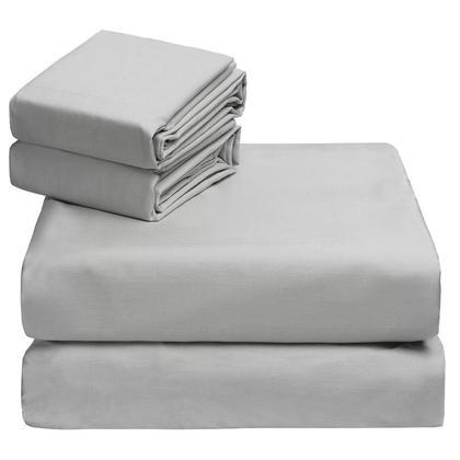 Bed Sheet Set Bedding Cotton Soft Luxury Quality Bedroom California King Size Grey - Livingbasics™