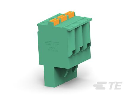 TE Connectivity 5mm Pitch, 4 Way PCB Terminal Block, Green (200)