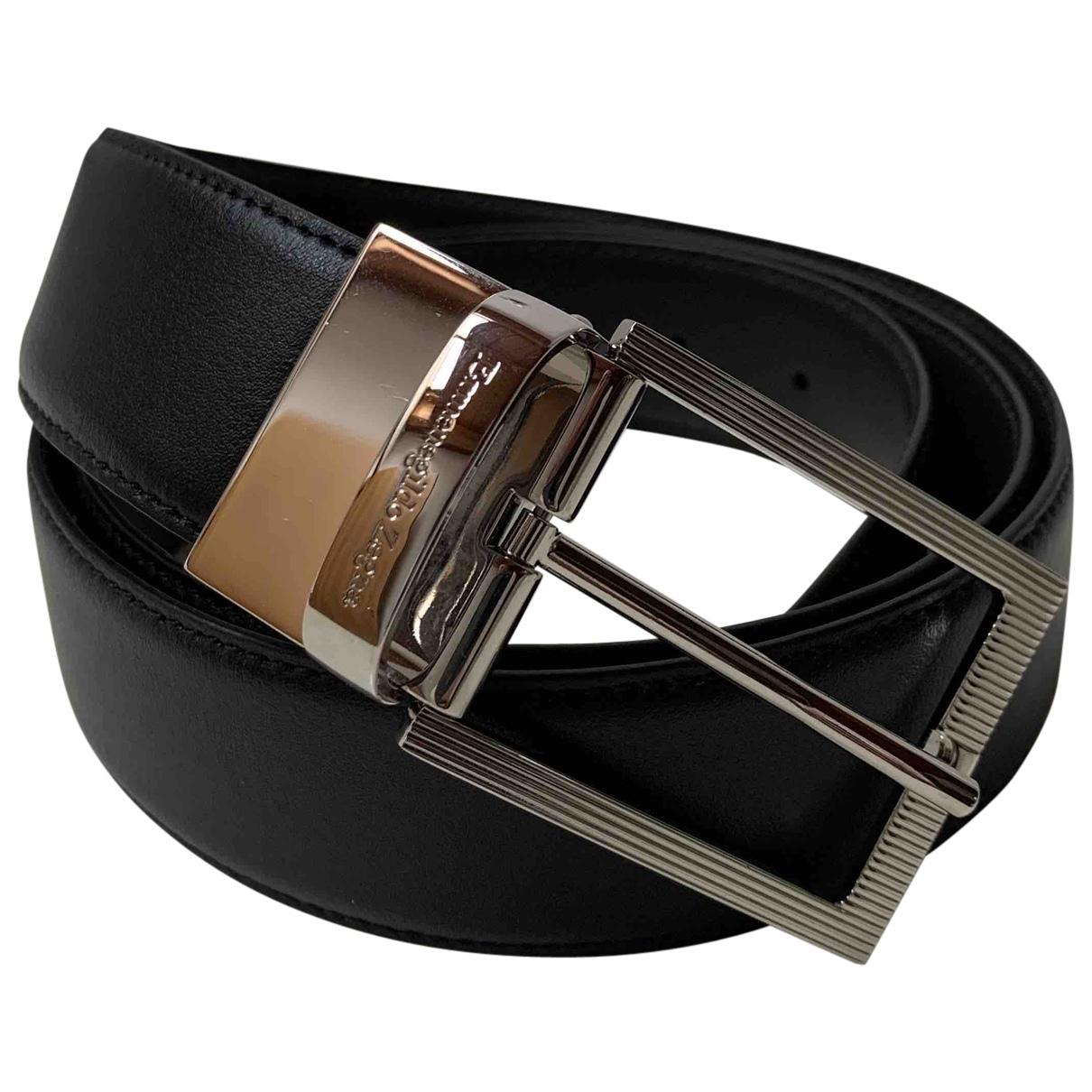 Ermenegildo Zegna N Black Leather belt for Men 100 cm