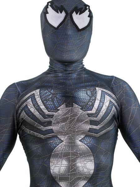 Milanoo Halloween Carnaval Venom Symbiote Marvel Comics Cosplay Lycra Spandex Mono Cosplay Personalizado