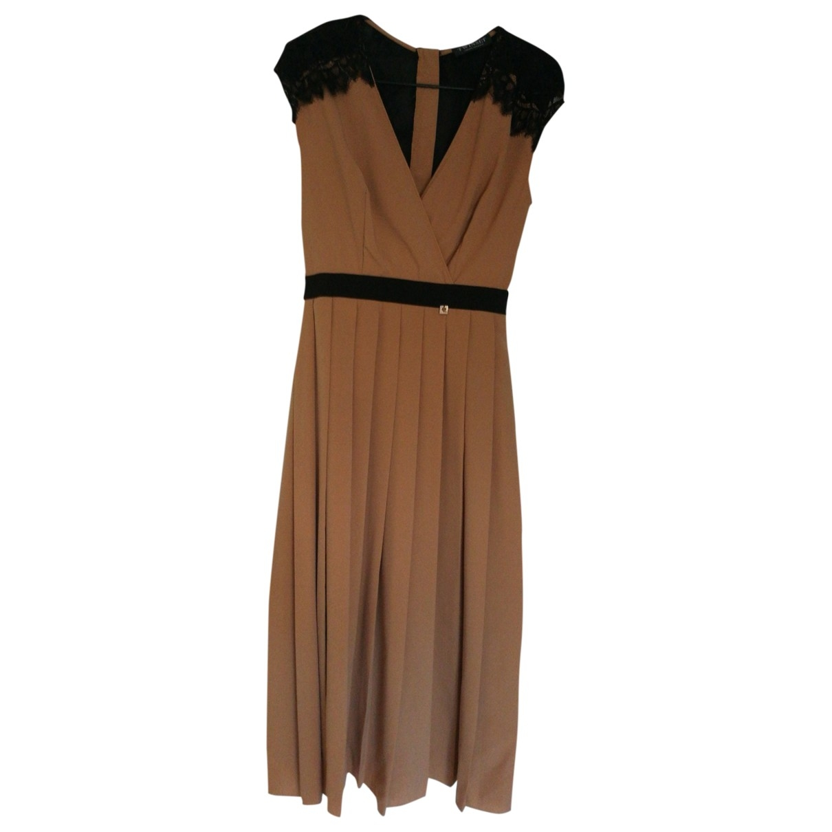 Twin Set \N Kleid in  Kamel Polyester