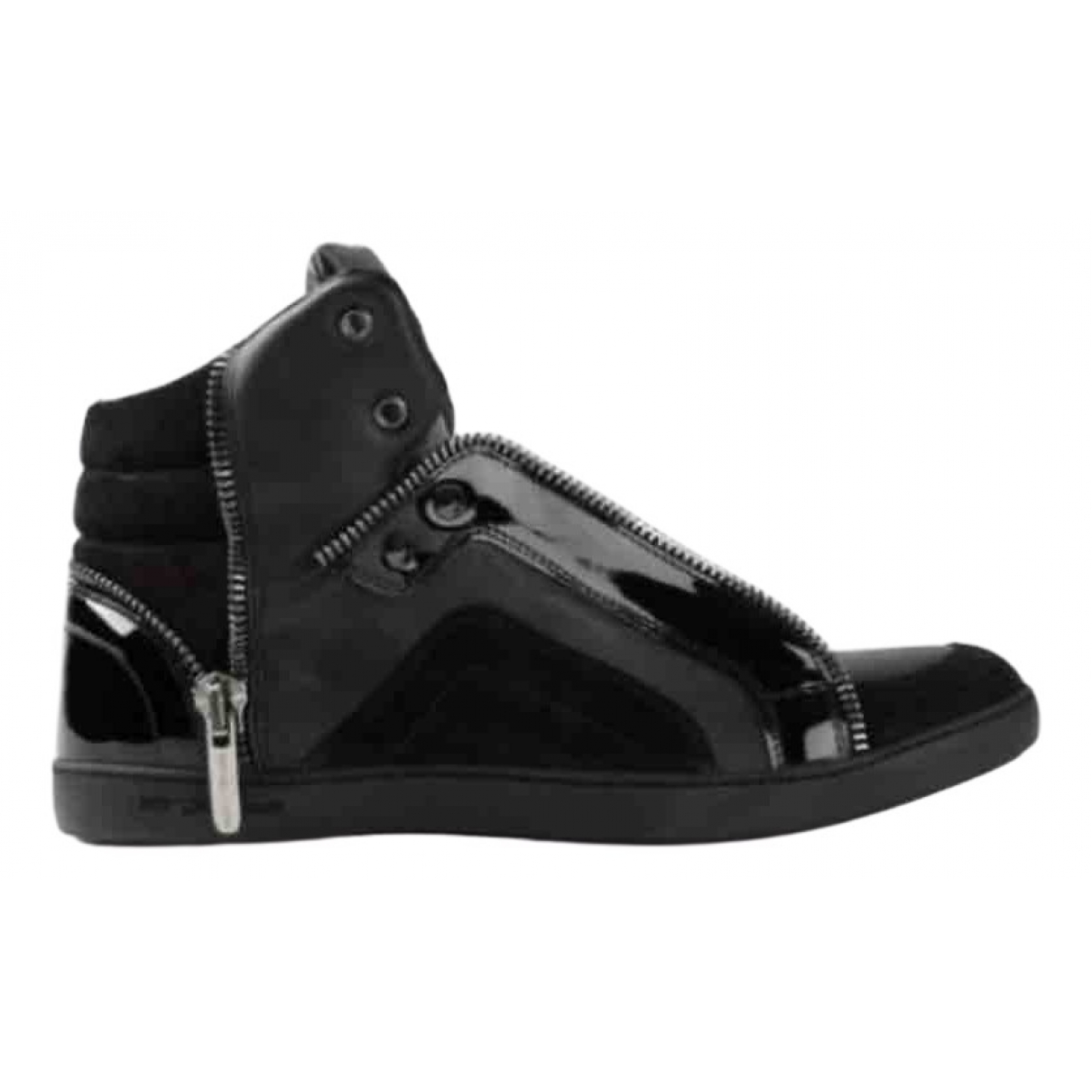 Sergio Rossi \N Black Patent leather Trainers for Women 6 UK