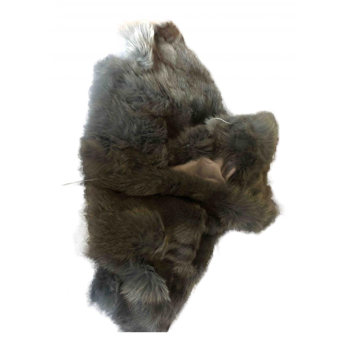 - Veste Oversize pour femme en renard - gris