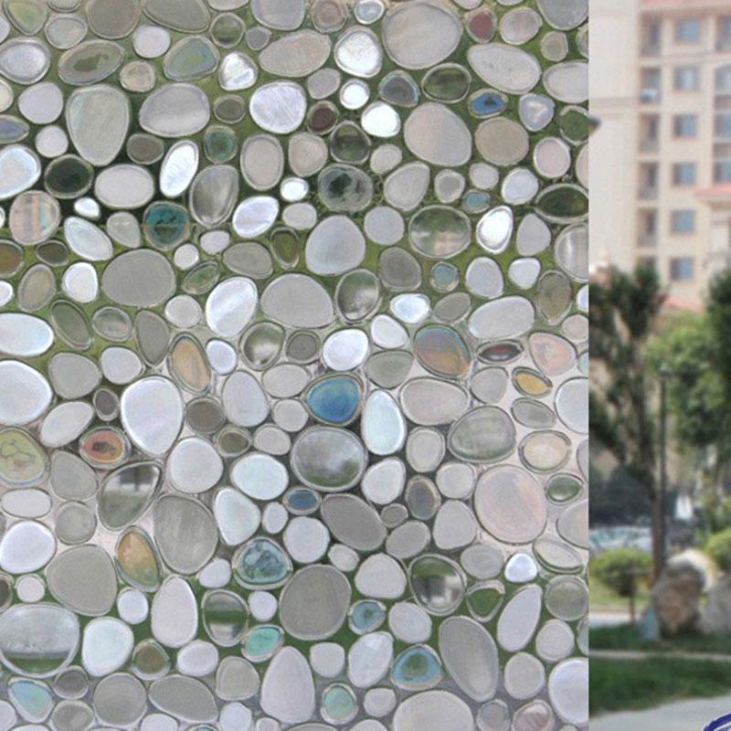 3D Glass Static Sticker No-glue Adiabatic Decorative Privacy Window Film