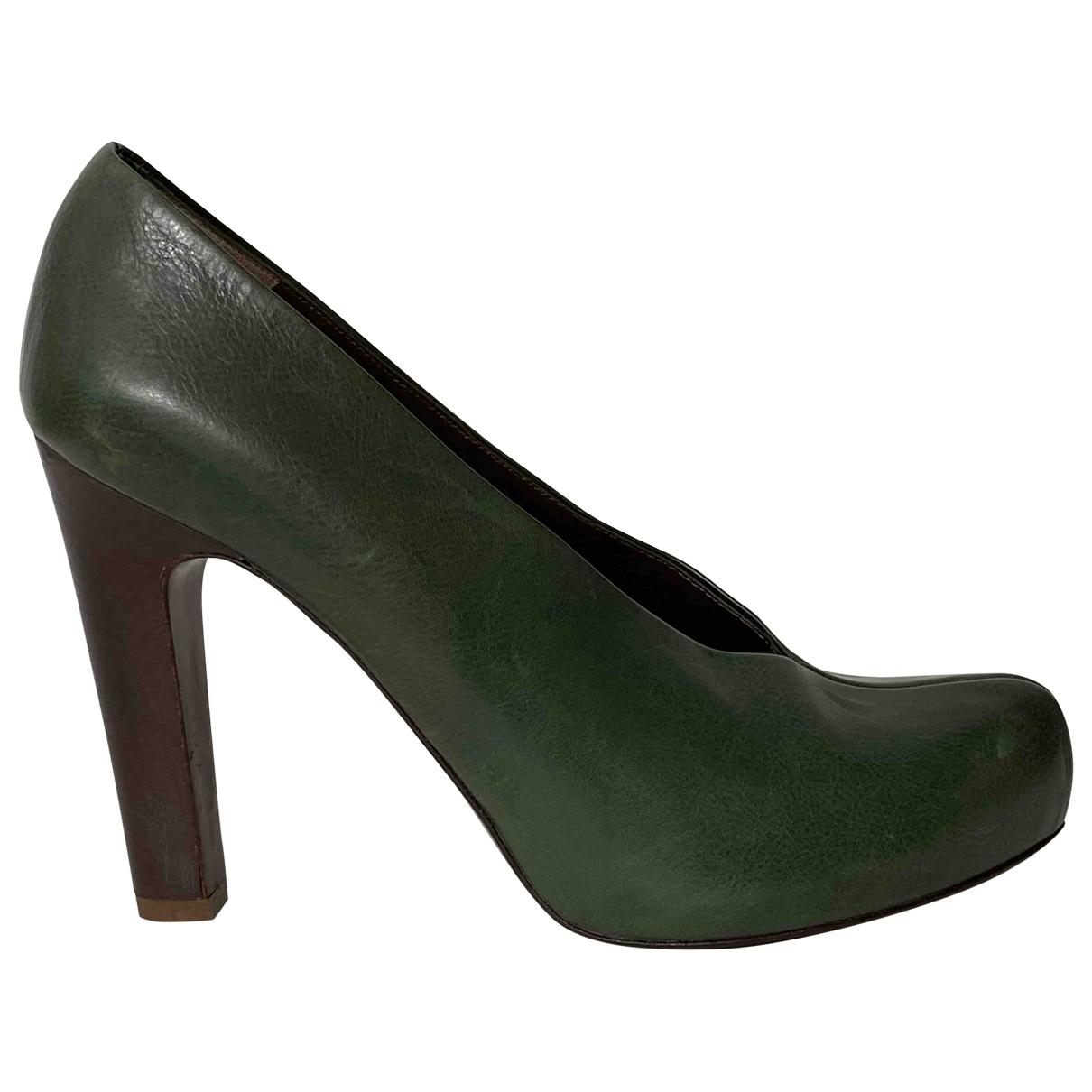 Hoss Intropia - Escarpins   pour femme en cuir - vert
