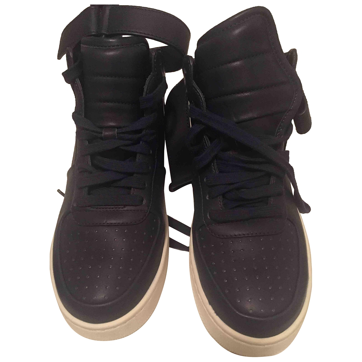 Celine \N Blue Leather Trainers for Women 36 EU