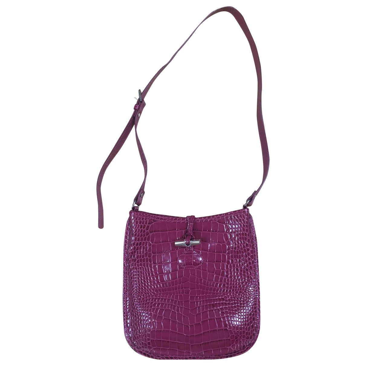 Longchamp Roseau Pink Leather handbag for Women \N