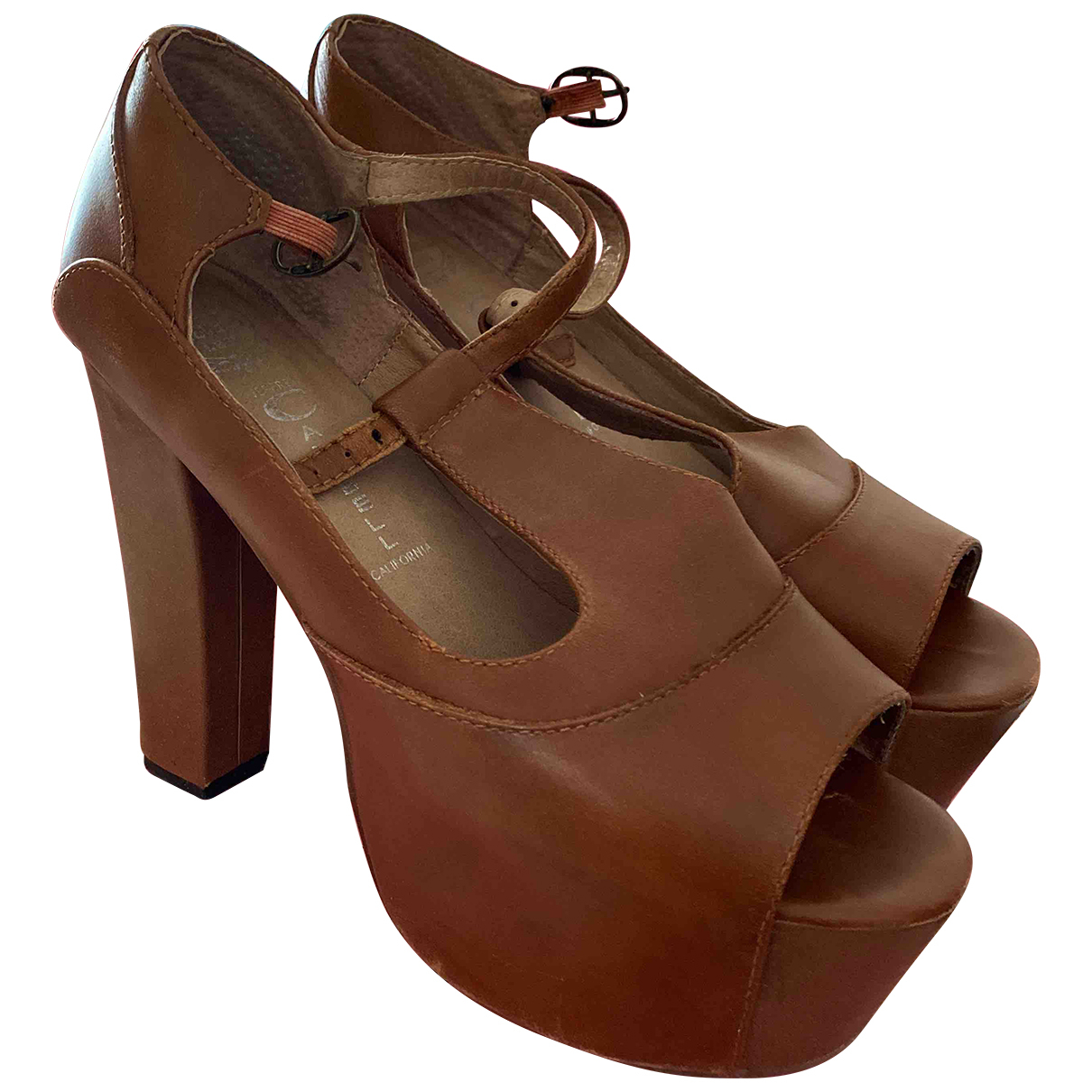 Jeffrey Campbell \N Brown Leather Sandals for Women 37 EU