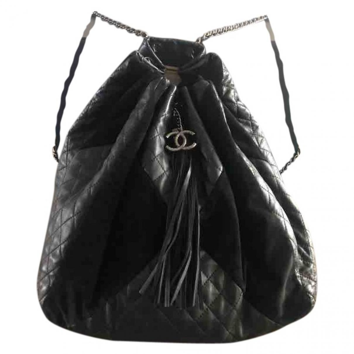 Chanel \N Black Leather backpack for Women \N