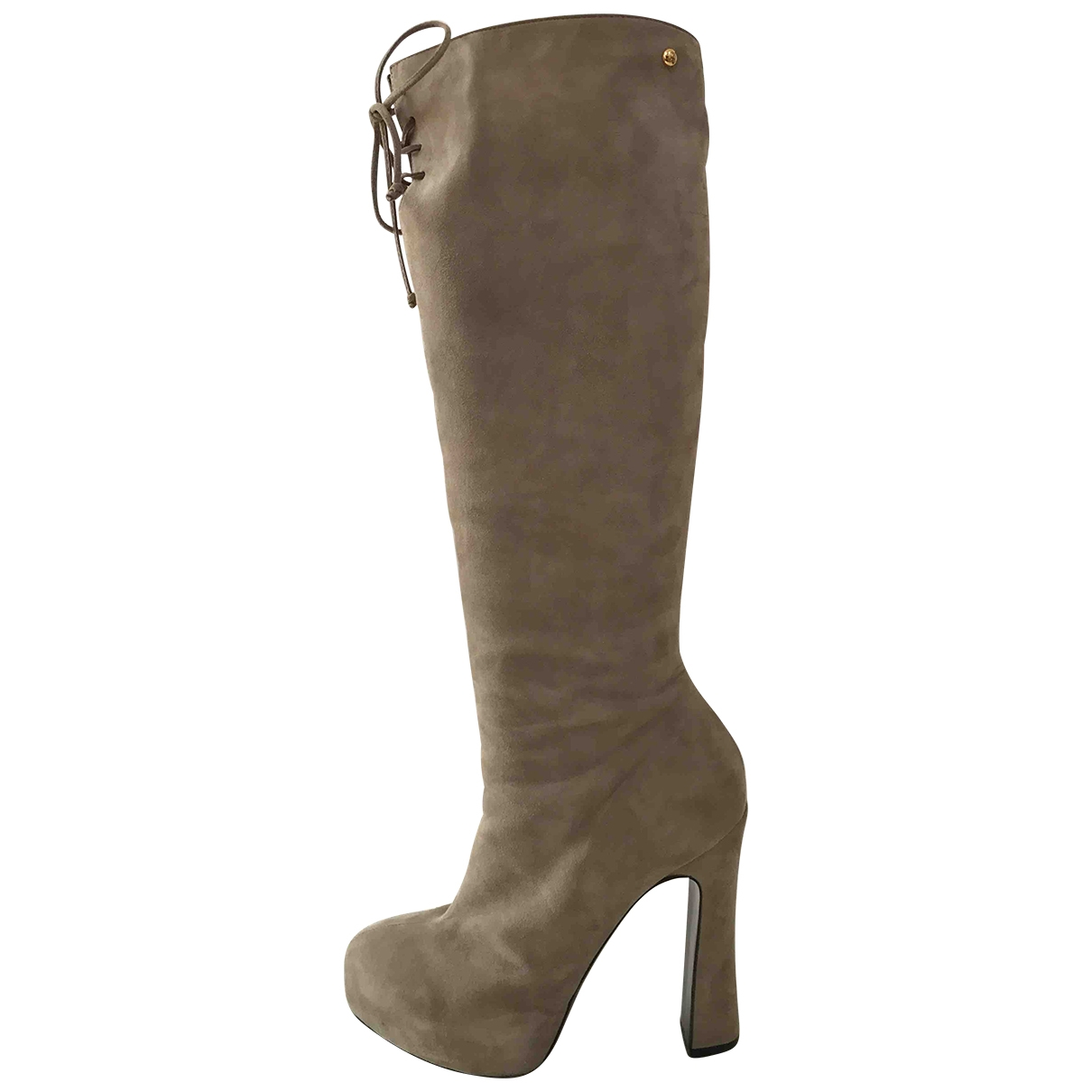 Just Cavalli \N Beige Suede Boots for Women 39 EU