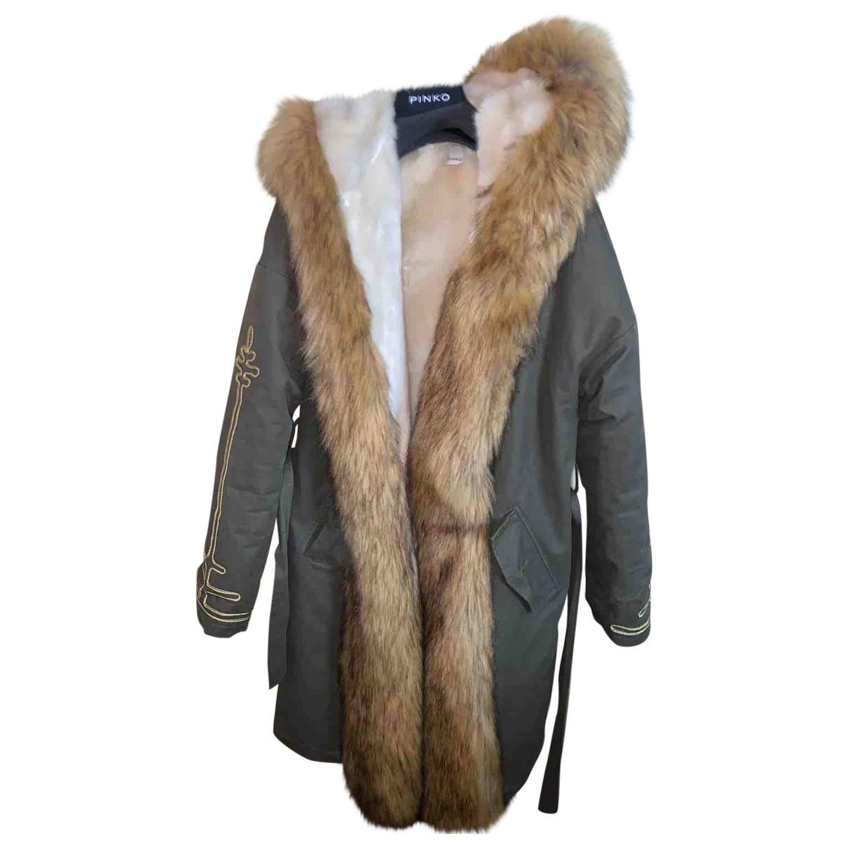 Pinko \N Green Faux fur coat for Women L International