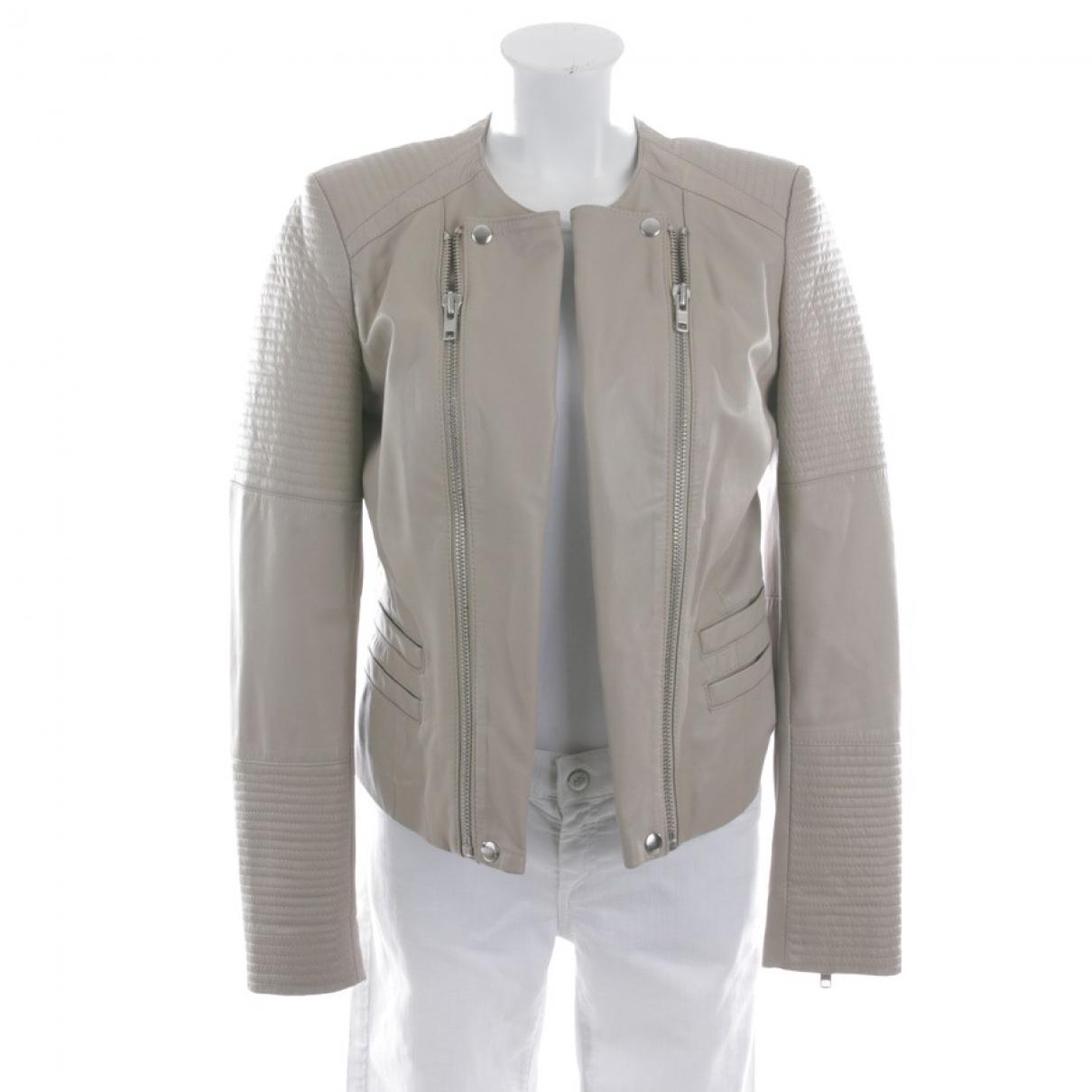 Set \N White Leather jacket for Women 40 FR