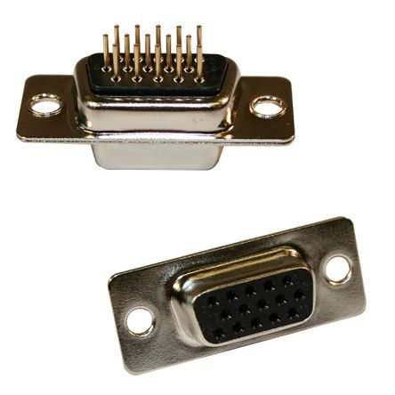 Norcomp 26 Way Vertical PCB D-sub Connector Socket, 2.29mm Pitch, with 4-40 Spacer/Board Lock (60)