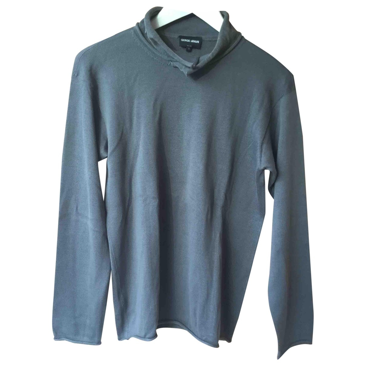 Giorgio Armani - Pull   pour femme en coton - gris