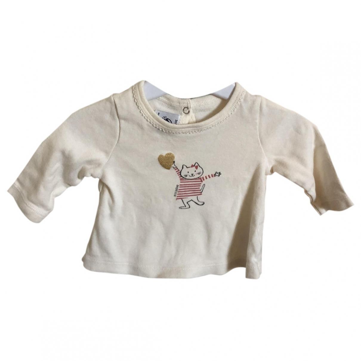 Petit Bateau - Top   pour enfant en coton - blanc