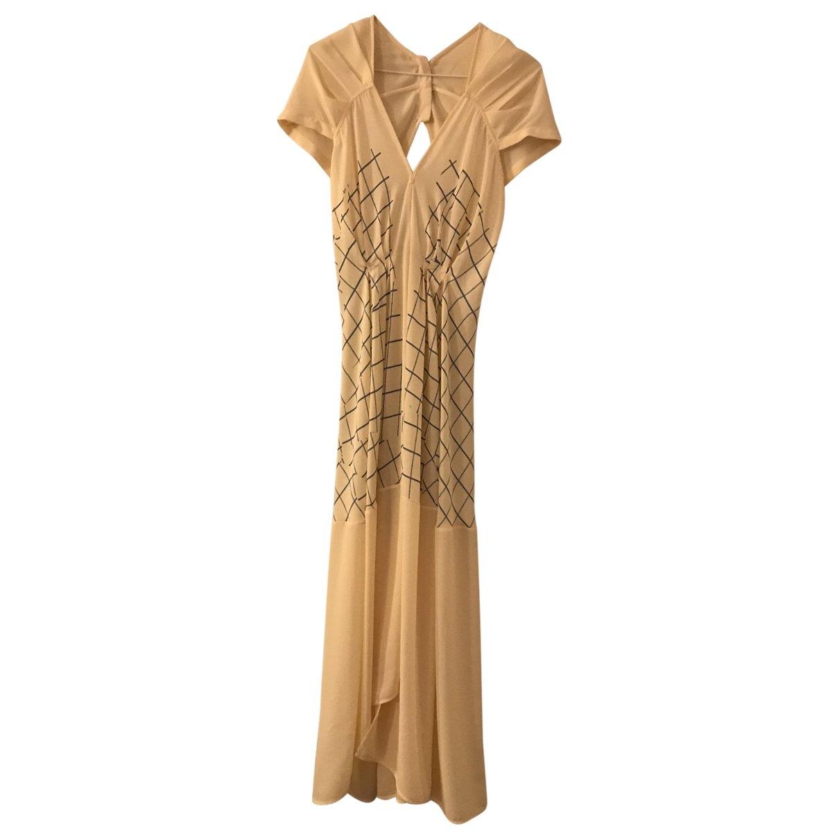 Victoria Beckham \N Ecru Silk dress for Women 38 FR