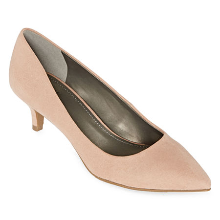 Worthington Womens Danika Pumps Kitten Heel, 9 Medium, Beige