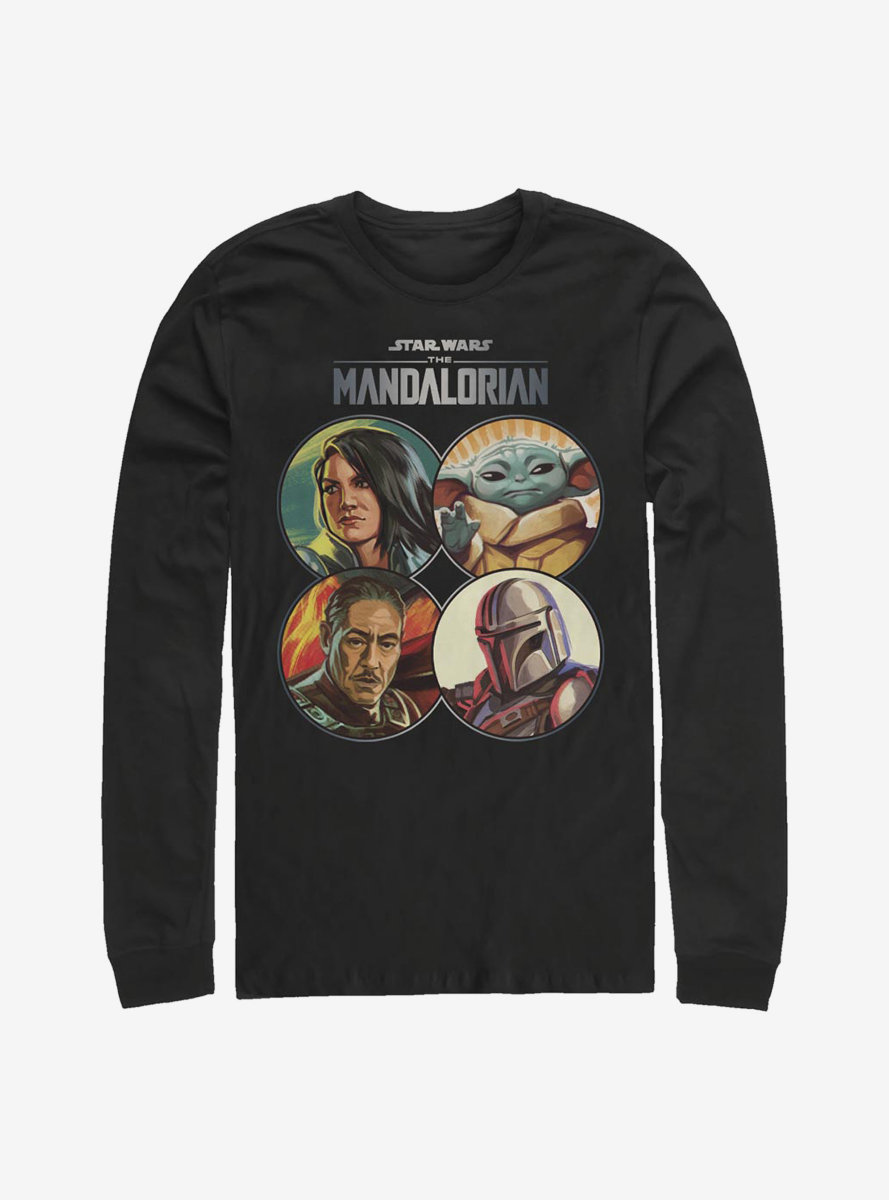 Star Wars The Mandalorian Character Coins Long-Sleeve T-Shirt