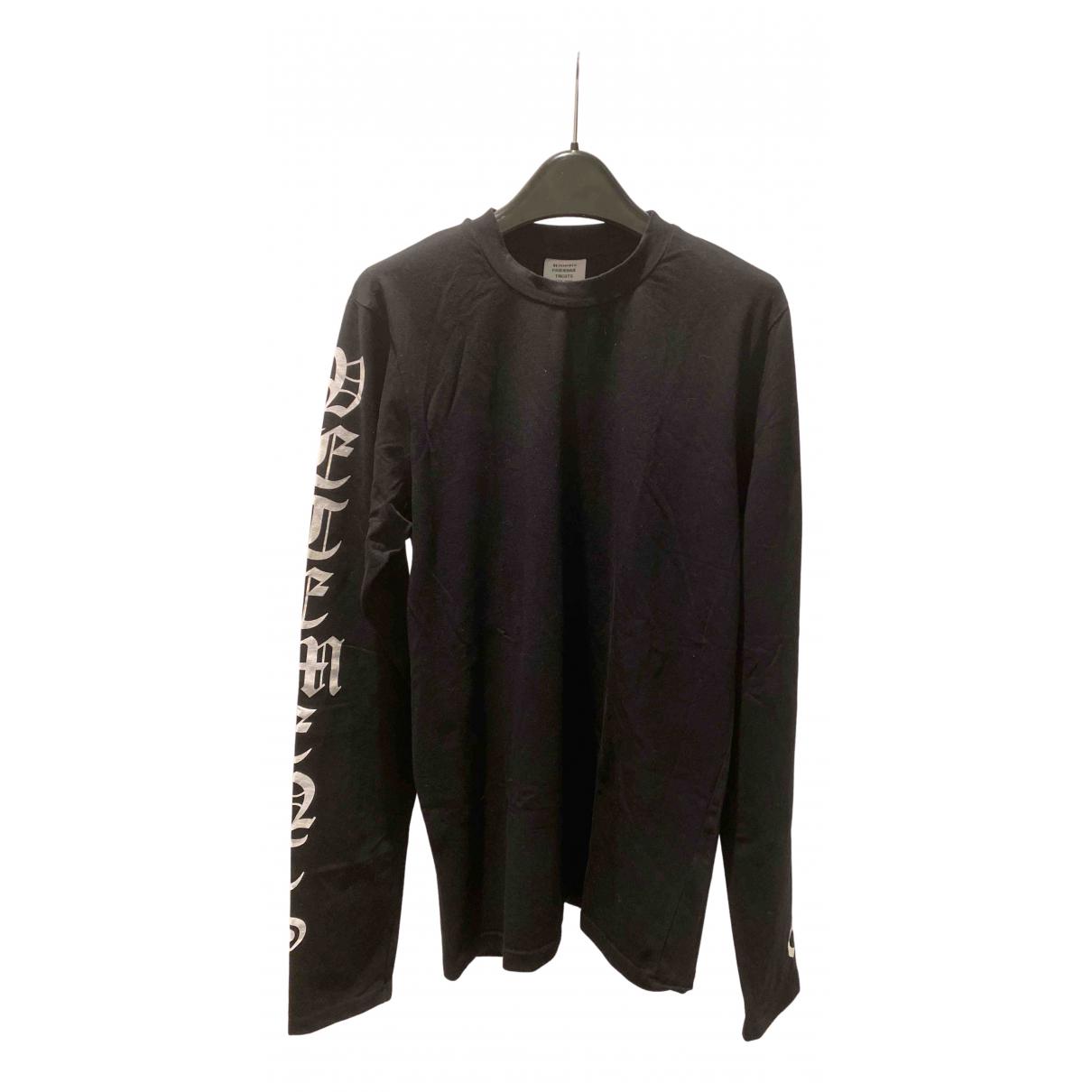 Vetements - Tee shirts   pour homme en coton - noir