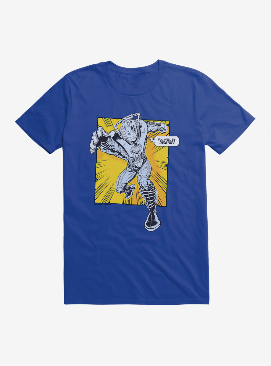 Doctor Who Cybermen You Will Be Deleted T-Shirt